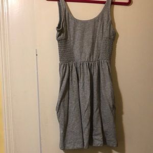 ROXY Smocked Grey Sundress